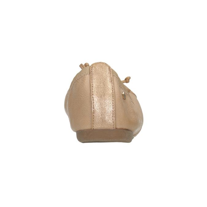 Dámské baleríny s pružným lemem bata, béžová, 521-5601 - 17