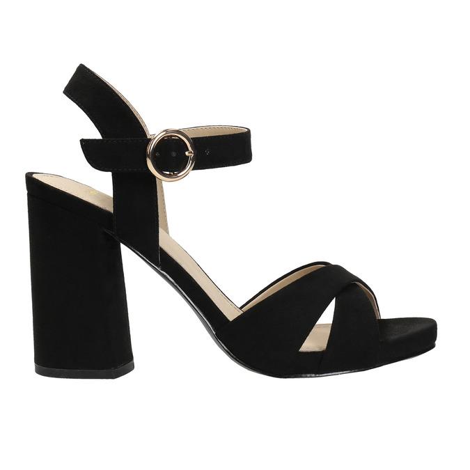 Dámské sandály na masivním podpatku bata, 2021-769-6602 - 15