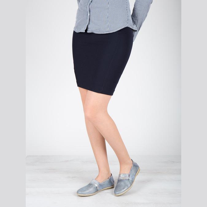 Dámská obuv ve stylu Slip-on bata, modrá, 516-9604 - 18