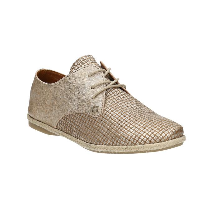 Dámské kožené polobotky bata, béžová, 526-8629 - 13