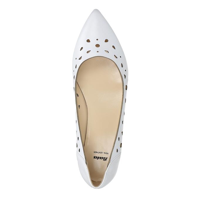 Bílé kožené baleríny bata, bílá, 524-1604 - 26
