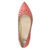 Kožené baleríny do špičky bata, růžová, 524-0604 - 26
