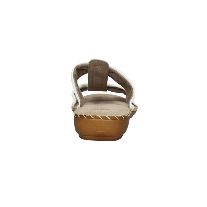 Kožené nazouváky šíře H bata, bílá, 566-1605 - 17