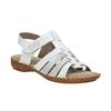 Kožené sandály šíře H bata, bílá, 566-1604 - 13