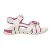 Kožené sandály na suché zipy mini-b, bílá, 263-1603 - 15