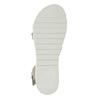 Kožené sandály na výrazné podešvi bata, šedá, 566-2606 - 26