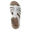 Kožené sandály šíře H bata, bílá, 566-1604 - 19