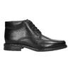 Kožená kotníčková obuv se zateplením bata, černá, 894-6640 - 15