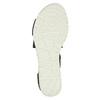 Sandály s pružnými pásky bata, černá, 661-6607 - 26