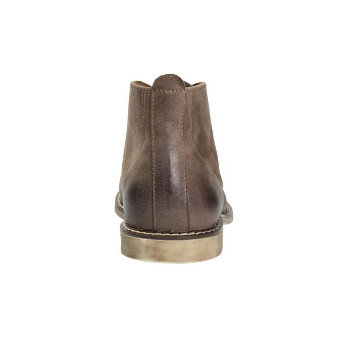 Kožená kotníčková obuv bata, hnědá, 826-4600 - 17