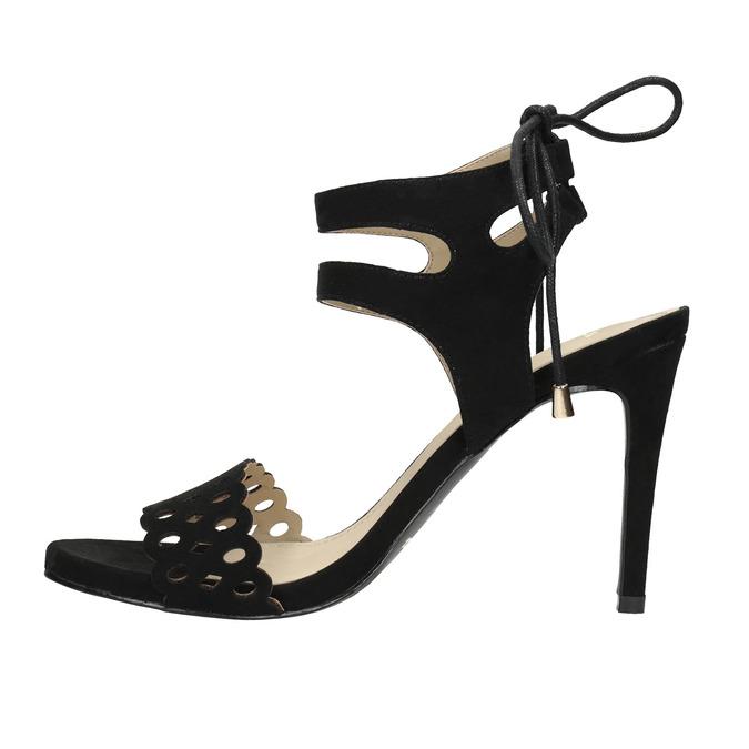 Černé sandály na jehlovém podpatku bata, černá, 769-6603 - 26