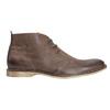 Kožená kotníčková obuv bata, hnědá, 826-4600 - 15