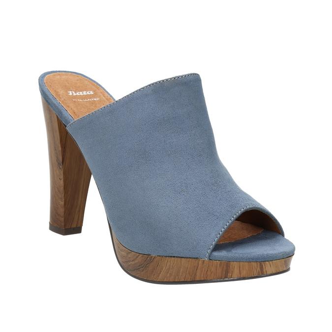 Mules nazouváky bata, modrá, 769-9615 - 13