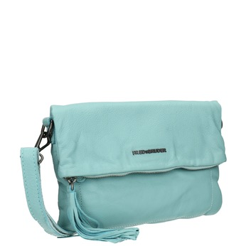 Modrá kožená kabelka fredsbruder, modrá, 964-9037 - 13