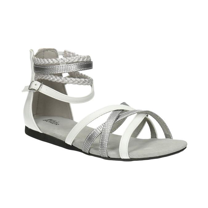 Dívčí páskové sandály bullboxer, bílá, 461-1001 - 13
