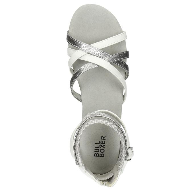 Dívčí páskové sandály bullboxer, bílá, 461-1001 - 26