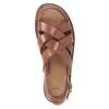 Pánské kožené sandály hnědé bata, hnědá, 866-3602 - 17