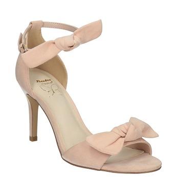 Dámské sandály s mašlí insolia, růžová, 769-5614 - 13