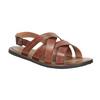 Pánské kožené sandály hnědé bata, hnědá, 866-3602 - 13