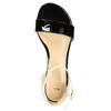 Lakované kožené sandály bata, černá, 568-6606 - 19