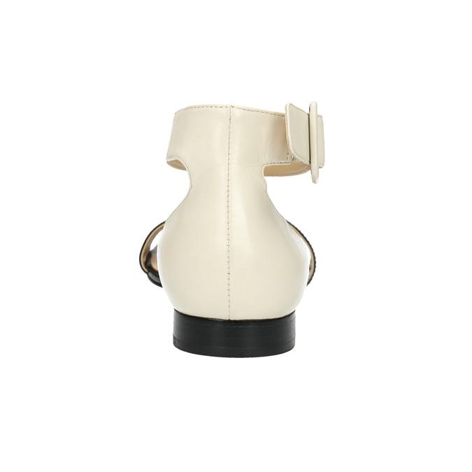 Lakované kožené sandály bata, černá, 568-6606 - 17