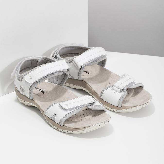 Kožené dámské sandály v Outdoor stylu weinbrenner, bílá, 566-1608 - 26