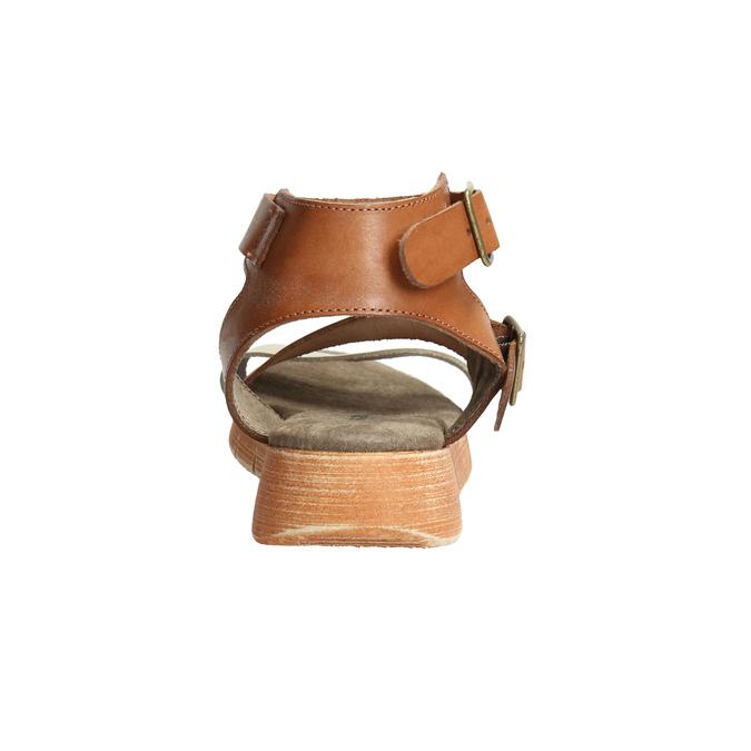 Kožené sandály na výrazné podešvi weinbrenner, hnědá, 566-4627 - 17