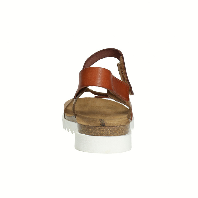Dámské kožené sandály weinbrenner, hnědá, 566-4630 - 17