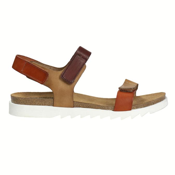 Dámské kožené sandály weinbrenner, hnědá, 566-4630 - 15