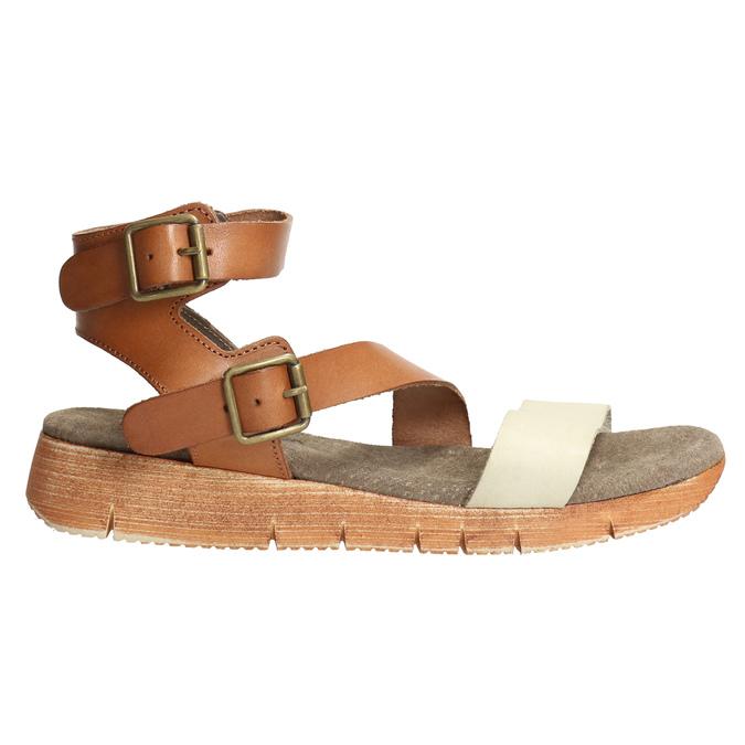 Kožené sandály na výrazné podešvi weinbrenner, hnědá, 566-4627 - 15