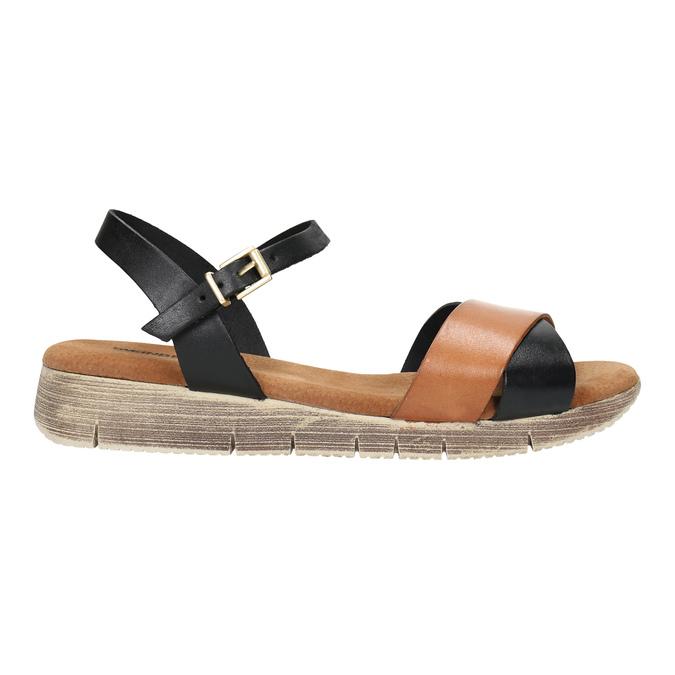 Dámské sandály na výrazné podešvi weinbrenner, černá, 566-6626 - 15