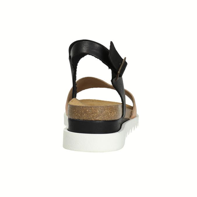 Kožené dámské sandály weinbrenner, černá, 566-6629 - 17