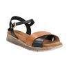 Dámské sandály na výrazné podešvi weinbrenner, černá, 566-6626 - 13