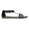 Černé kožené sandály bata, černá, 564-6600 - 15