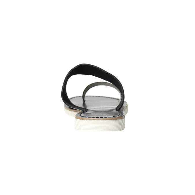 Dámské kožené nazouváky bata, černá, 566-1614 - 17