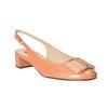 Kožené lodičky s volnou patou hogl, oranžová, 628-8401 - 13