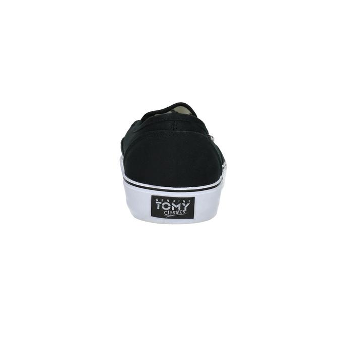 Černé pánské Slip-on tomy-takkies, černá, 889-6229 - 17