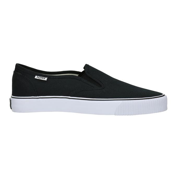 Černé pánské Slip-on tomy-takkies, černá, 889-6229 - 15