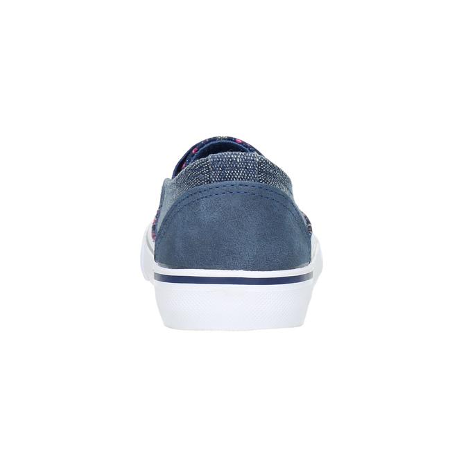 Dívčí obuv ve stylu Slip-on mini-b, modrá, 329-9611 - 17