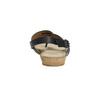 Korkové sandály s hadím vzorem bata, černá, 561-6606 - 17