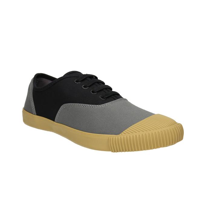 Pánské tenisky s gumovou špicí bata-tennis, černá, 889-6402 - 13