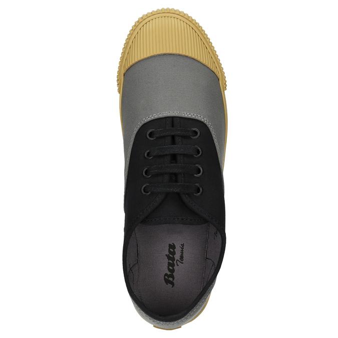 Pánské tenisky s gumovou špicí bata-tennis, černá, 889-6402 - 26