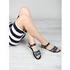 Kožené sandály s modrými pásky bata, modrá, 566-9615 - 18