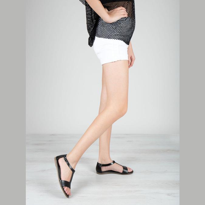 Černé kožené sandály bata, černá, 564-6600 - 18