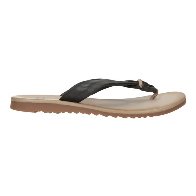 Dámské kožené žabky bata, černá, 566-6607 - 15