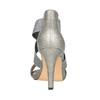 Dámské sandály na podpatku bata, šedá, 761-2614 - 17
