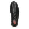 Černé polobotky pánské kožené s kulatou špičkou fluchos, černá, 824-6451 - 17