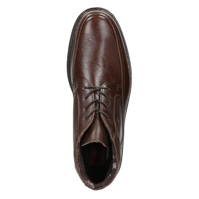 Kožená kotníčková obuv fluchos, hnědá, 824-4450 - 26