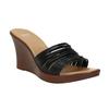 Dámské kožené nazouváky bata, černá, 766-6603 - 13