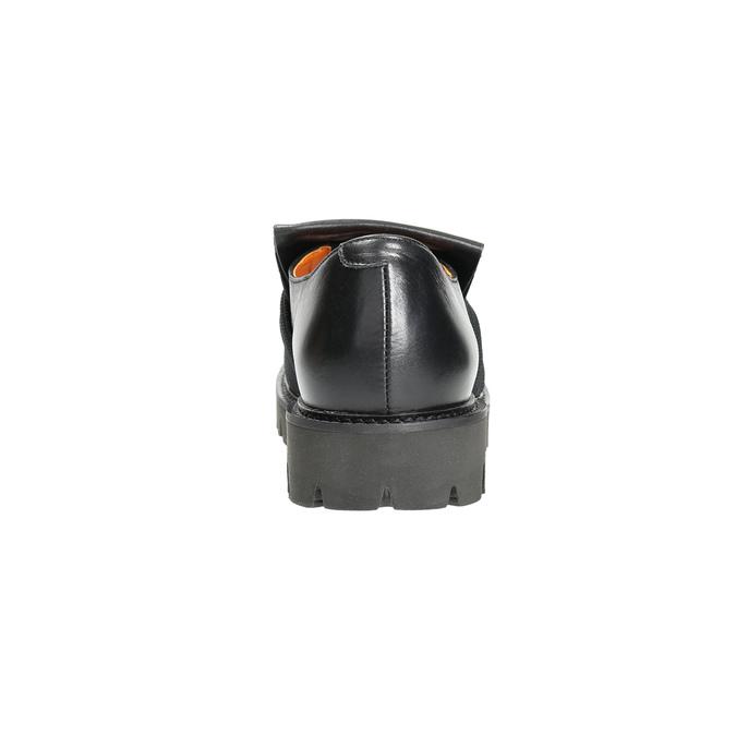 Pánská kožená obuv Loafers bata, černá, 836-6600 - 17